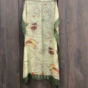 """PRADA Silk """"Fairies"""" scarf"""